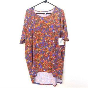 Lularoe Short Sleeve Patterned Tunic Shirt Dress M